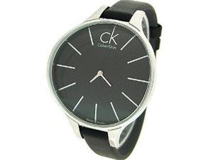 Calvin Klein Black Leather Strap Ladies Watch K2B23102