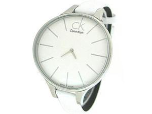 Calvin Klein White Leather Strap Ladies Watch K2B23101