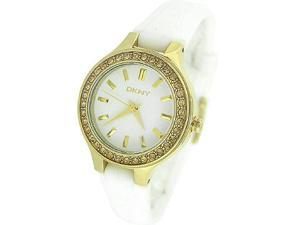 Dkny Crystal Silicone Band 50M Ladies Watch NY8219