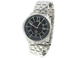 GUESS COLLECTION DATE 50M SILVER BAND MENS WATCH