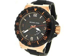 MICHAEL KORS SILICONE STRAP 100M MENS WATCH