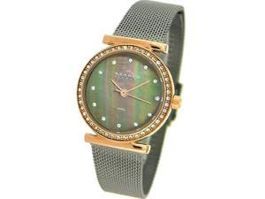 Skagen Denmark Womens Watch Charcoal & Rosegold Steel Watch #108SRM