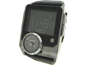 DIESEL DIGITAL AND ANALOG LEATHER 50M MENS WATCH