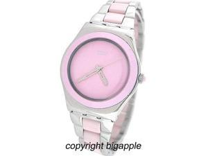 Swatch 'Pink Ceramic' Watch YLS167G