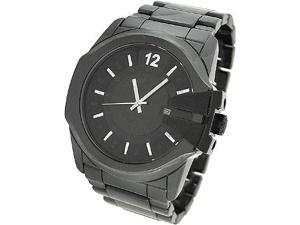 DIESEL DATE GUN METAL CERAMIC 100M MENS WATCH