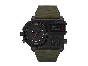Diesel 3 Time zone Canvas strap 50M Men's Watch DZ7206