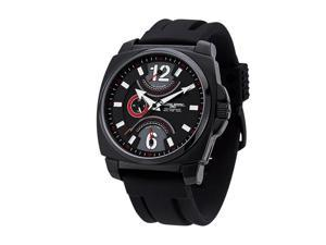 Jorg Gray Leather Multifunction Black Dial Men's watch #JG1040-19