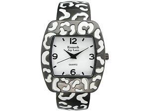 Kenneth Jay Lane Kj4351-bw Leopard Enamel Ladies Watch