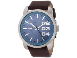 Diesel Blue Dial Brown Leather Strap Mens Watch DZ1512