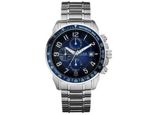 Guess Sport Ready Chronograph Blue Dial Stainless Steel Mens Watch U15072G2