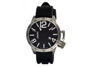 Breed Lucan 3002 Men's Sports Analog Watch - Silver Bezel/ Black Dial