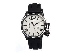 Breed Lucan 3005 Men's Sports Analog Watch - Black & White Bezel/ White Dial