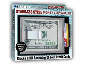 RFID Blocking Stainless Steel Money Clip & Credit Card Wallet - Prevents Identity Theft