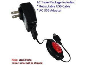 HTC Fuze Retractable USB AC Travel Kit
