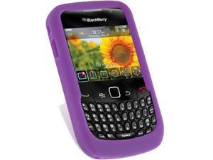 BlackBerry Curve 3G 9300 Silicone Skin Case (Purple)