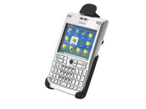 Nokia E61 / E62 Rubber Holster with Swivel Belt Clip (Black)