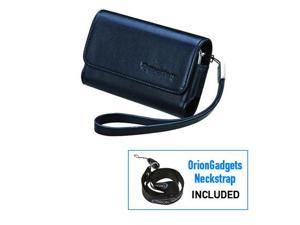 BlackBerry Bold 9000 Leather Folio Horizontal Pouch Case (Blue)