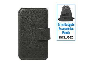 Apple iPhone 4 Premium Leather Case w/ Credit Card Slots (Black)