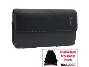 Samsung Vibrant T-Mobile Napa Leather Horizontal Pouch Type Case (Black)