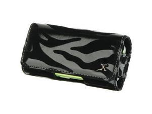 AT&T Fuze Safari Leather Horizontal Pouch Type Case - Zebra (Black)
