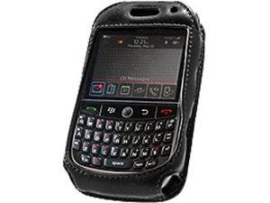 BlackBerry Curve 8900 Elite Leather Case with Spring & Swivel Clip (Black)