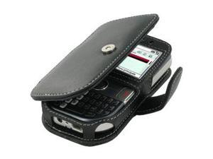 Palm Treo 500V Leather Book Case (Black)