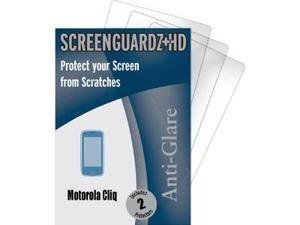 Motorola Cliq ScreenGuardz HD (Hard) Anti-Glare Screen Protectors (Pack of 2)