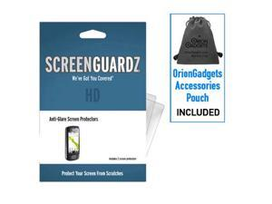 LG Optimus T ScreenGuardz HD (Hard) Anti-Glare Screen Protectors (Pack of 2)