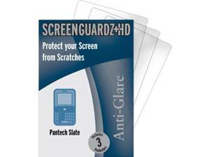 Pantech Slate C530 ScreenGuardz HD (Hard) Anti-Glare Screen Protectors (Pack of 3)