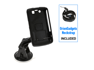 BlackBerry Storm 2 9550 Car Mount w/ Snap-On Hard Cover Combo