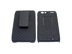 Motorola DROID RAZR MAXX Shell Case / Holster Combo w/ Kickstand (Checkers Design) (Black)