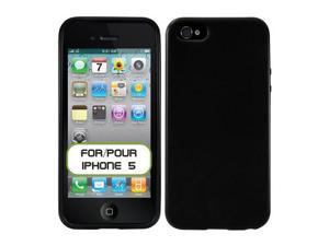 Apple iPhone 5 Soft TPU Shell (Hard Silicone) Case (Black)