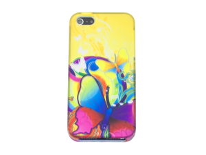"""Apple iPhone 5 Crystal Hard Plastic Case - """"Butterfly Kisses"""" (Wonderland Special Series) (Yellow)"""