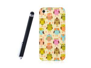 Apple iPhone 5 Crystal Hard Plastic Case (Funny Owl Print) + Free Stylus