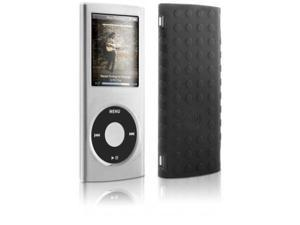 DLO HybridShell Hard-Shell Case with Non-Slip Silicone Back fits Apple iPod nano 4th Gen 8Gb / 16Gb - Clear front / Black ...