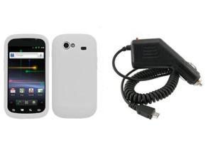 Fosmon Soft Silicone Case + Car Charger for Samsung Google Nexus S i9020