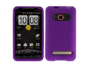 Fosmon Soft Silicone Case fits HTC EVO 4G - Purple