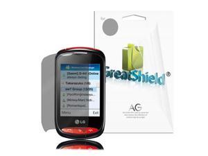 GreatShield 3 Pack Anti-Glare Screen Shield Guard for LG 800G - Crystal Clear