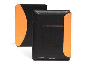 GreatShield Ultra Thin Wireless Bluetooth Keyboard Leather Folio Case with Stand for iPad (Orange)