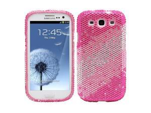 Fosmon Bling Crystal Case for Samsung Galaxy S3 / SIII - Pink Layer Rhinestone