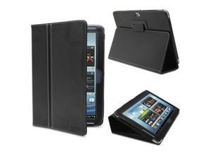 GreatShield TOME Series Leather Case with Multi Angle Stand for Samsung Galaxy Note 10.1 inch (Black)