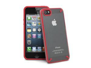 GreatShield Radiant TPU Protector Case Cover Skin for Apple iPhone 5 - Red/Clear