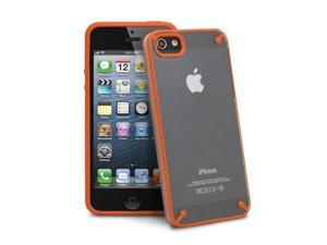 GreatShield Radiant TPU Protector Case Cover for Apple iPhone 5 - Orange/Clear