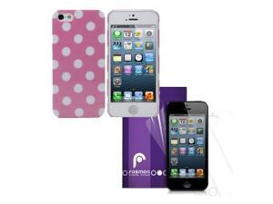 Fosmon SLIM Series Crystal Polk-A-Dot Case 4 in 1 Bundle for Apple iPhone 5