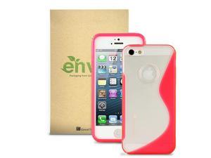GreatShield Guardian S Series Slim-Fit TPU+PC Case for Apple iPhone 5 (S-Line Design, Clear/Pink)