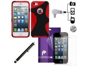 Fosmon HYBO Series TPU + PC Splash Design 5 in 1 Bundle for Apple iPhone 5