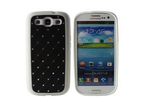 Fosmon Star Diamond TPU Case for Samsung Galaxy S3 / SIII i9300 - Black / White