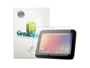 GreatShield Ultra Anti-Glare (Matte) Clear Screen Protector Film for Google Nexus 10 by Samsung (3 Pack)