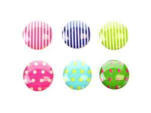 Fosmon 6 in 1 Polka Dot and Stripe Pattern Home Button Decals for Apple iPad / iPad Mini / iPad 2 / iPad 3 / iPad 4 / iPhone ...