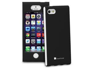 GreatShield FUSION Series Shock-Proof Slim Case for Apple iPhone 5 - Black / White